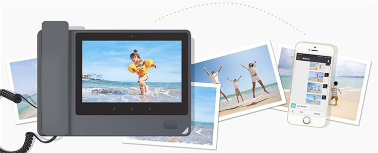 Smart video anruf SIM karte WIFI telefon video corded festnetz telefone