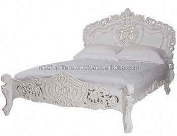 Fabulous French Rococo White Painted Hand Carved Mahogany Wood Bed Buy Rococo Bed Bed Wood Bed Product On Alibaba Com Best Image Libraries Sapebelowcountryjoecom