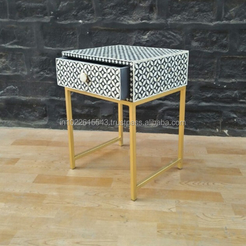 Outstanding Bone Inlay Bedside Table Bone Inlay Side Table View Bone Inlay Furniture Garud Bone Inlay Furniture Product Details From Garud Enterprises India Dailytribune Chair Design For Home Dailytribuneorg