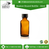 30ml Amber Clear Color Boston Round Glass Bottle Essential Oil Bottles