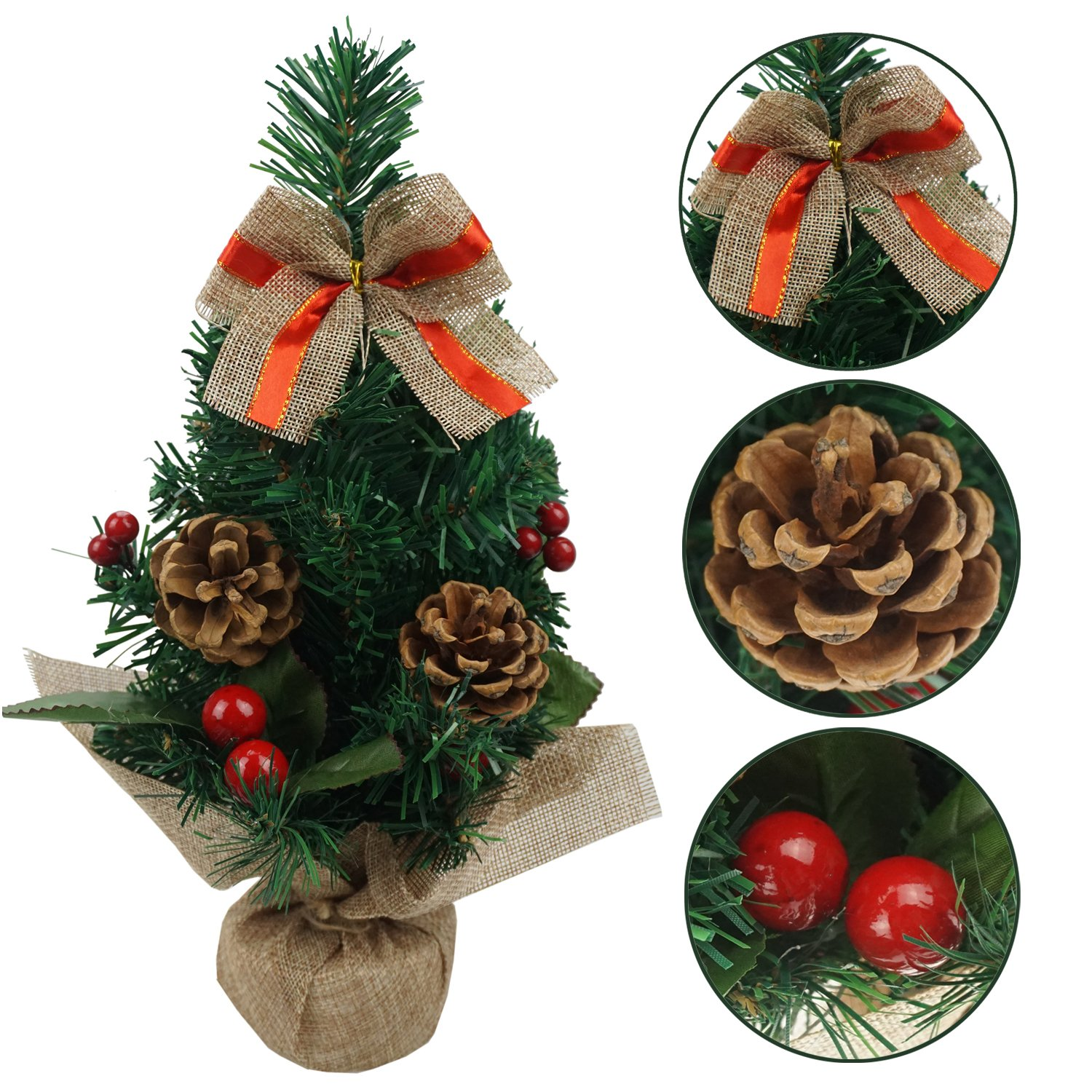 get quotations bilipala artificial mini table top christmas tree small christmas tree of xmas decorations 12