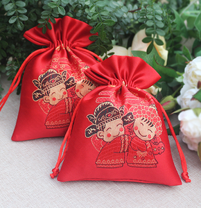 wholesale silk satin dust cute bag drawstring