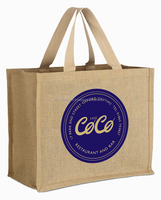 Durable rope handled Super market Grocery jute Bag For Promotion