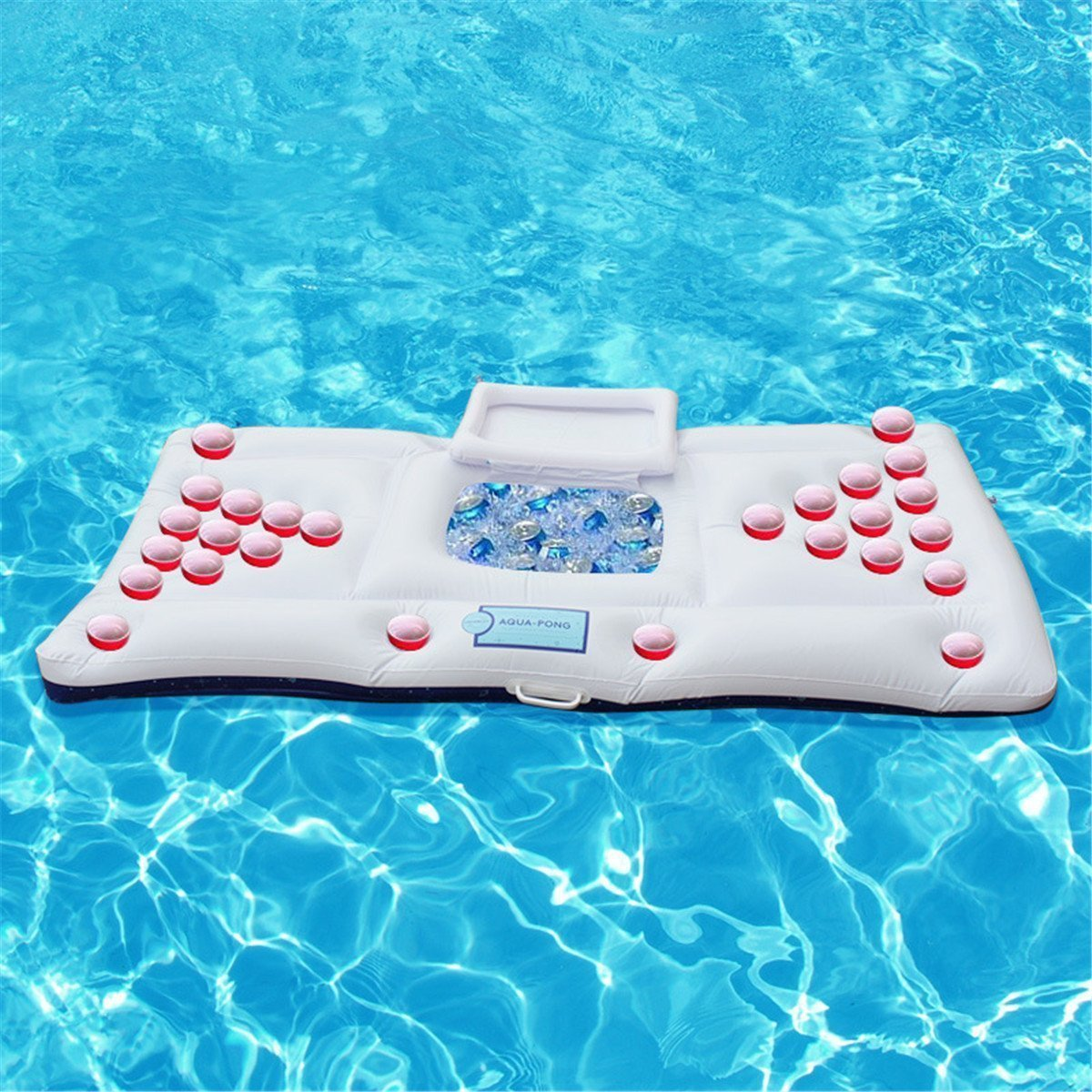 5c06cf5b0866e Get Quotations · Pool Party Pong Inflatable Beer Pong Table Swim Floating  Beer Table Row Water Bed Raft and
