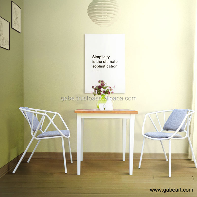 Chair Resto Modern White Iron Wrapped with Rattan Synthetic Furniture