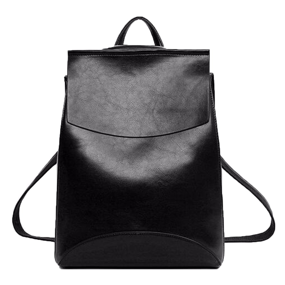 acaa53857 Get Quotations · Women Vintage Leather Backpack,Charminer Leather Backpack  Casual Daypack Handbags for Ladies Girls Black