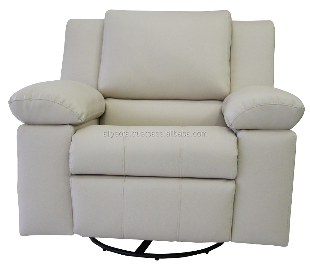 New Trend leather Glider Rocking Recliner Chair with 100% Leather Modern Motion Sofa for Living Room ALLY-0010100914