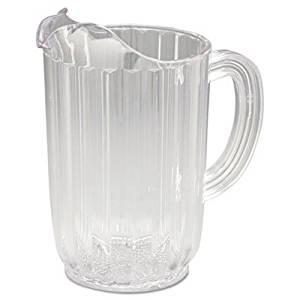 RCP3336CLE Bouncer Plastic Pitcher, 32oz, Clear