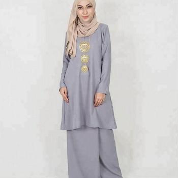 Baju Kurung Pahang Malaysia Fashion 2018 Satu Set Muslimah Gaun Grosir Muslimah Pakaian Kebaya Abaya Buy Baju Kurung Islam Pakaian Abaya Product On