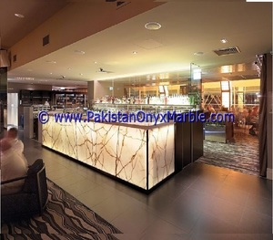 Backlit Orange Onyx Glass Kitchen Counter Top From Pakistan