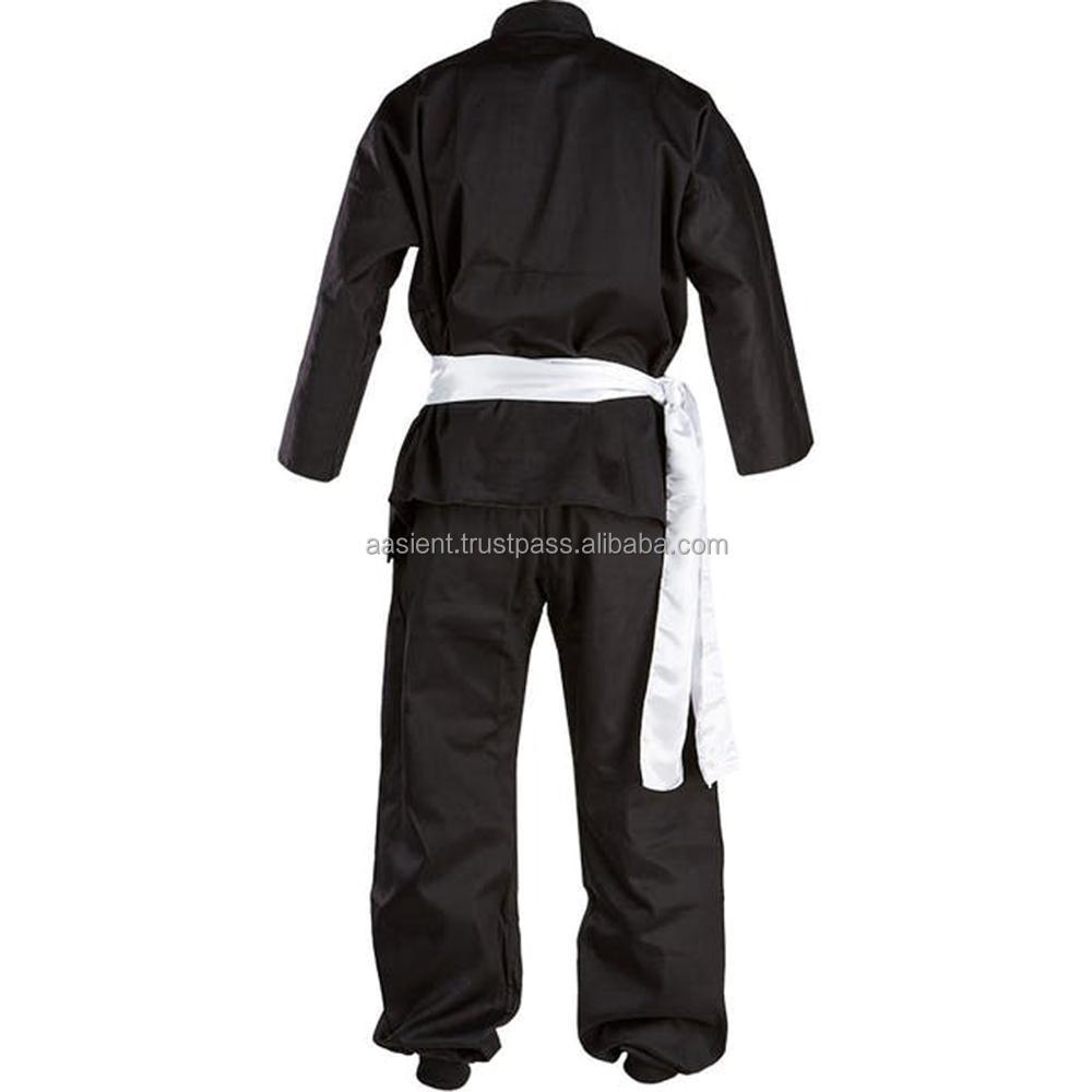 جديد الكونغ فو فنون الدفاع عن النفس موحدة الملابس بدلة سوداء في