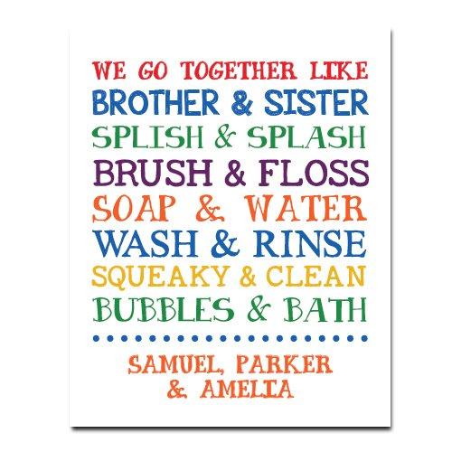 Children Bathroom Paper Art Print , Bathroom Sign, Kids Bathroom, Kids Bathroom, Bathroom Art Wall Decor, Gender Neutral Bathroom, Boy Girl Bathroom Decor, Shared Bathroom Decor