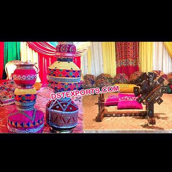 Punjabi Wedding Decoration Charkha Decoration Punjabi Theme Wedding