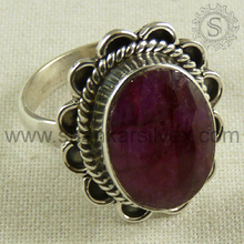 Latest engagement silver ring jewelry 925 sterling ruby gemstone silver ring jewellery wholesale supplier