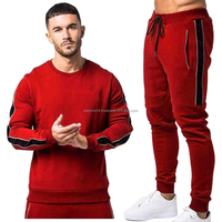 Mens Tracksuit Jogging Top Bottom Sport Sweat Suit