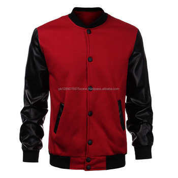 Letterman Baseball School Wool Red Varsity Jackets,Custom ...