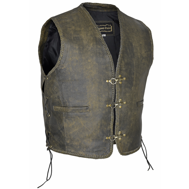 Clothing, Shoes & Accessories Son Of Anarchy Black Real Leather Handmade Motorcycle Biker Waistcoat Club Vest Modern Techniques Parts & Accessories