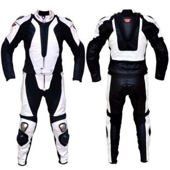 Hitam Putih Kulit Sepeda Motor Sepeda Balap Cocok Buy Custom