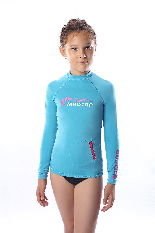 2637da43dd Get Quotations · MADCAP Girls Rash Guard Long Sleeve Swimwear Swim Surf  Shirt Top UV Sun Protection for Toddler