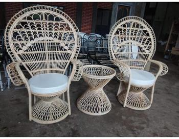 Twin Natural Rattan Peacock Chair Natural Color Wicker Indoor Indonesia  Furniture Products