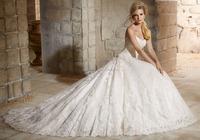 Latest Ball Gown Bridal Wedding Dress Shoulder-Straps Dress Long Train