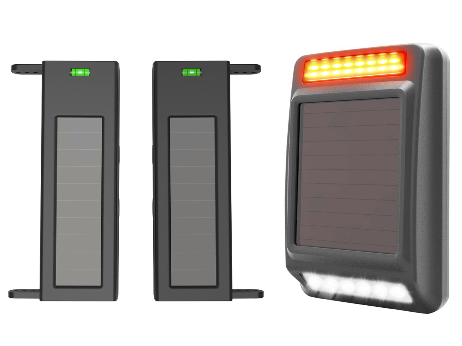 Outdoor Weatherproof DIY Security Perimeter Alert System 1//4 Mile Long Transmission Range 190 Feet Wide Sensor Range No Wiring No Need Replace Battery HTZSAFE Solar Wireless Driveway Alarm System