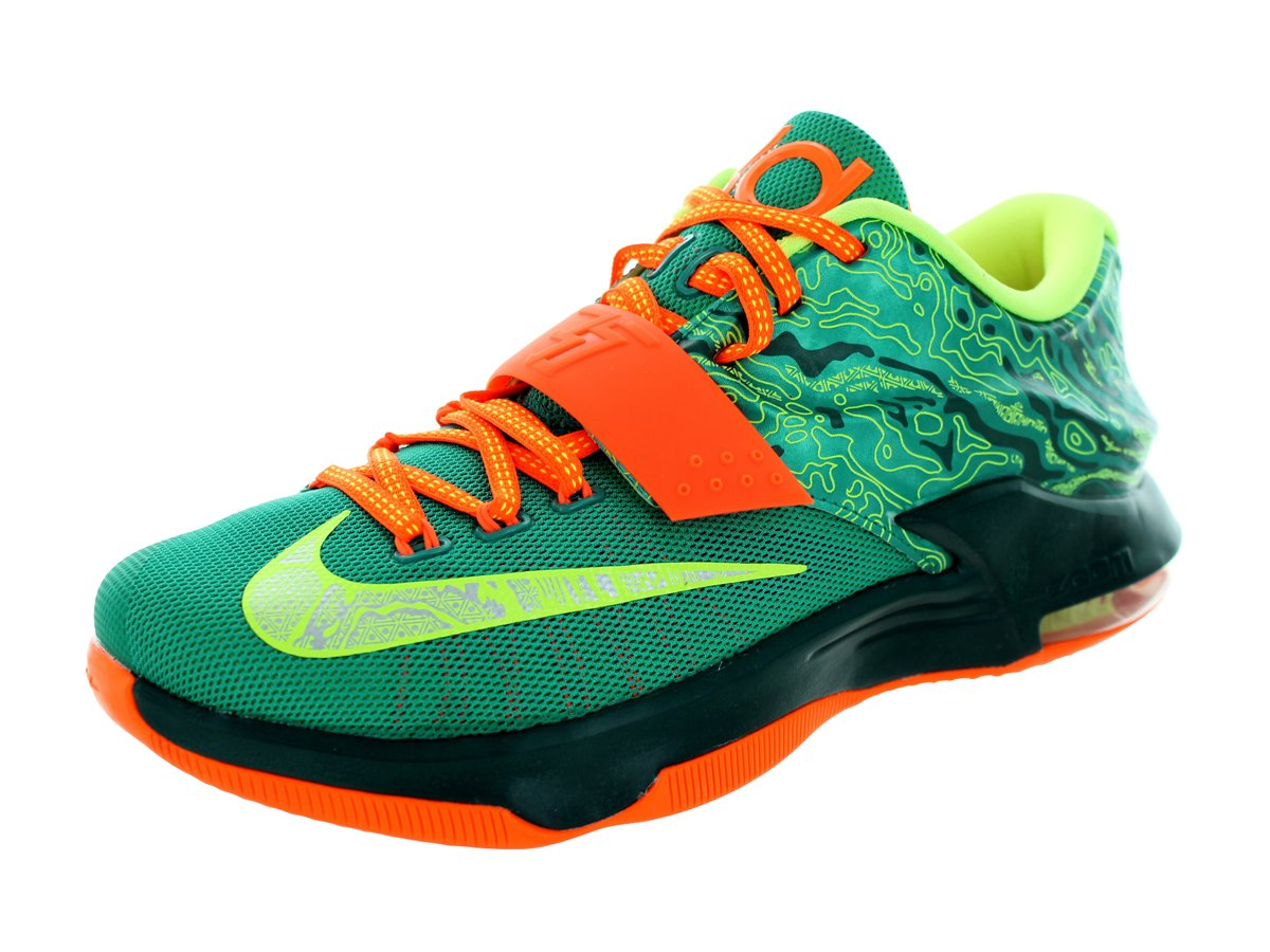 31e32a7f2f51 Get Quotations · Nike Men s KD VII Thunderbolt Basketball Shoes
