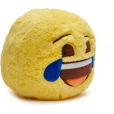 "Kids Teens Jumbo Plush Smiley Ball Bank Tears ( Emoji Jumbo Plush Smiley Ball ""Tears"" ( Joy) Coin Bank )"