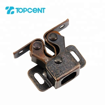 TOPCENT cabinet closet door magnetic twin double single roller spring catch