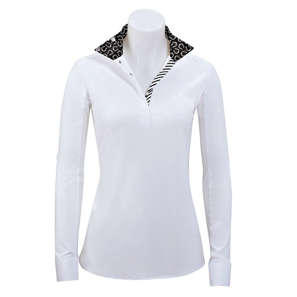 RJ Classics Rebecca Ladies Long Sleeve English Show Shirt With Horseshoe Trim