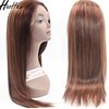 Wholesale human hair Straight lace front wig with baby hair