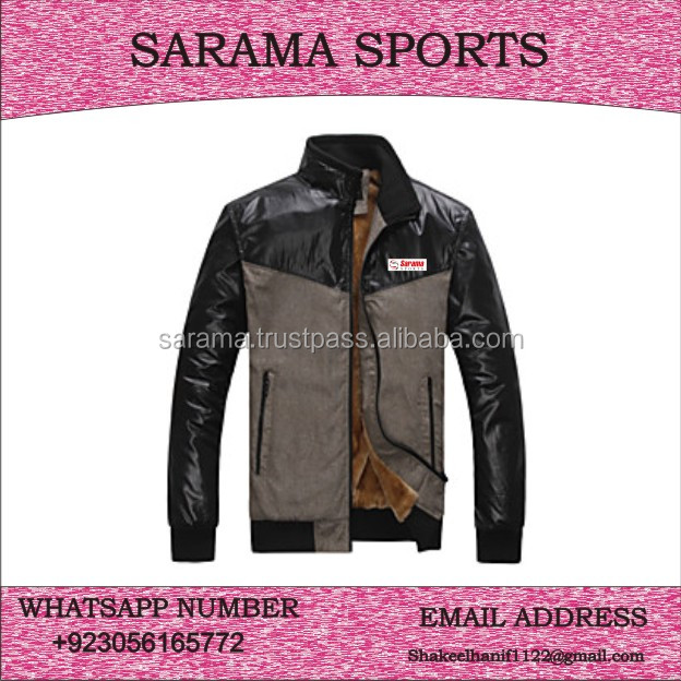 Wholesale Clothing Men Winter Warm Jackets with fine Quality / screen printed / embroidery
