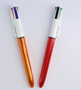 Best selling office plastic retractable multi color ball pen with custom logo