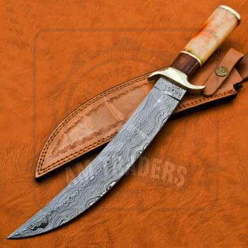 Custom HandMade Damascus Steel Straight Fixed Blade Hunting Knife DT-18-SK926