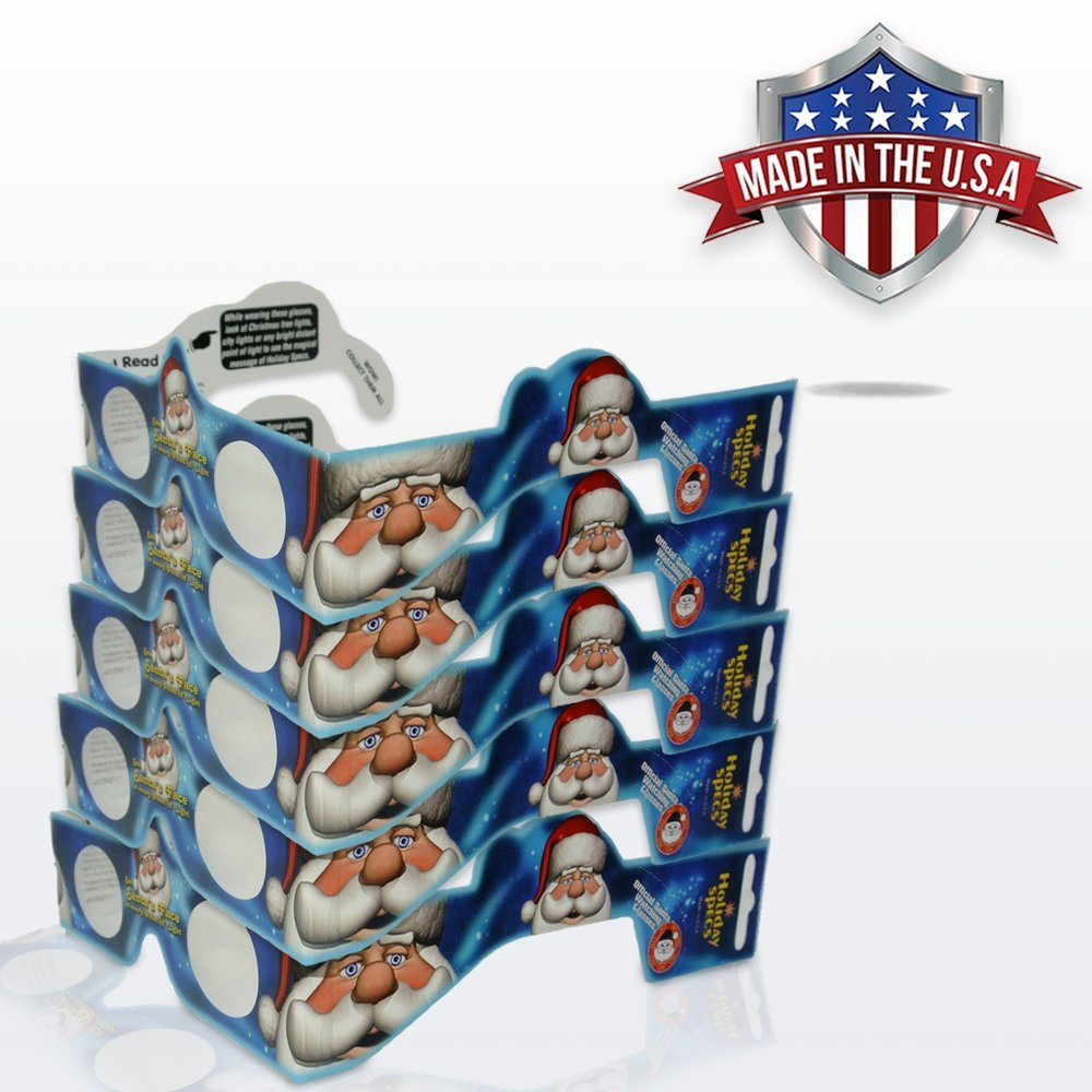 5 Pack 3D Christmas Glasses Turn Holiday Lights Into Magical Images See For