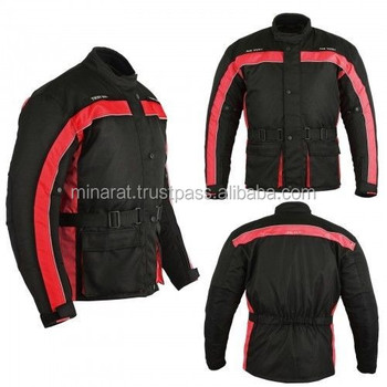 Motorbike Jacket 600d Cordura Fabric CE Approved Red Motorbike Armoured Jacket Motorcycle Waterproof customized