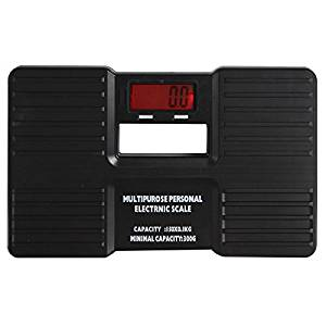 SODIAL(R)Black Multipurpose Mini Digital Portable Body Health Weight Measuring Electronic Scale with LCD Display