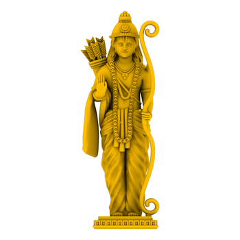 Ready File Cad Design Lord Ram Statue For Home Good Luck Gift