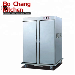 Hotel Restaurant Kitchen Equipment Heated Holding Electric Cabinet Food Warmer with Two Doors