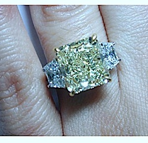 GIA certified 6.04ct Fancy Yellow Radiant Diamond Engagement Ring JEWELFORME BLUE Loose Diamonds BLUERIVER4747