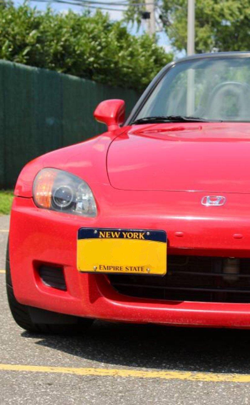 Bumper Tow Hook License Plate Mount Bracket For Honda S2000