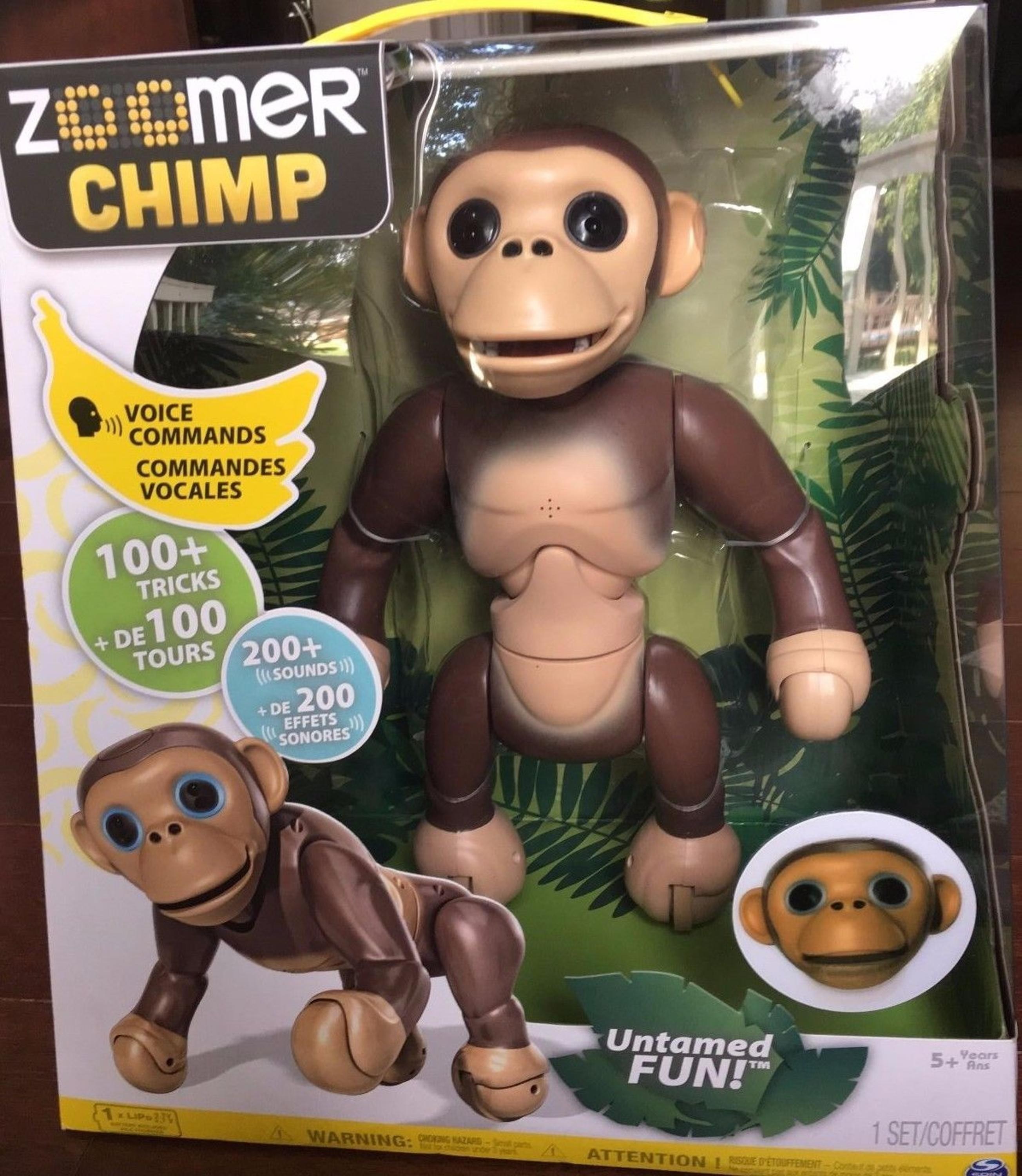 BUY SPIN MASTER ZOOMER CHIMP ELECTRONIC INTERACTIVE MONKEY PET KIDS TO
