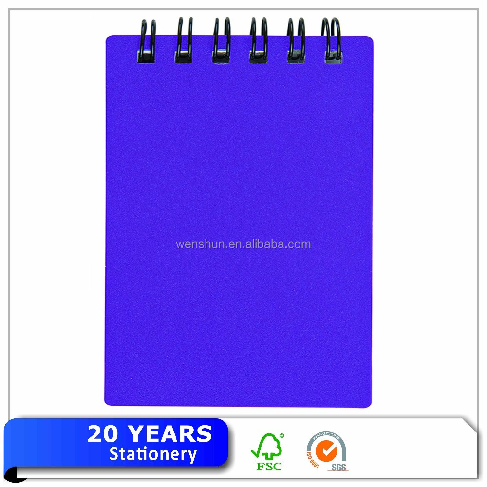Top-Spiral Notebook with Plastic Covers,PP Cover Ruled Notebook