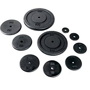 Black Regular Plate [Set of 2] Weight: 10 lbs