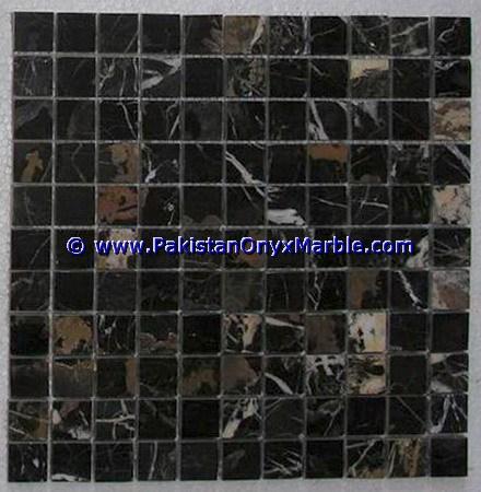 Pakistan Black And Gold Mosaic Tiles, Pakistan Black And