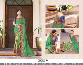India Pakistani Designer Party Wear Saree With Embroidery Work