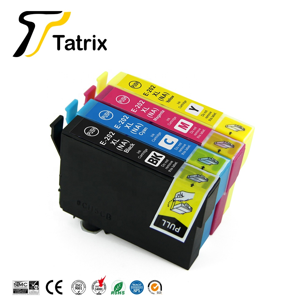 Tatrix T202XL 202XL Compatible Printer Ink Cartridge for Epson Expression Home XP-5100 WorkForce WF-2860