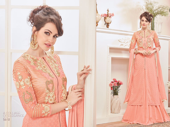 Peach color dresses pakistani