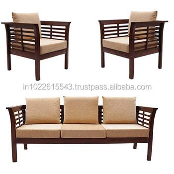 Solid Wood Sofa Set