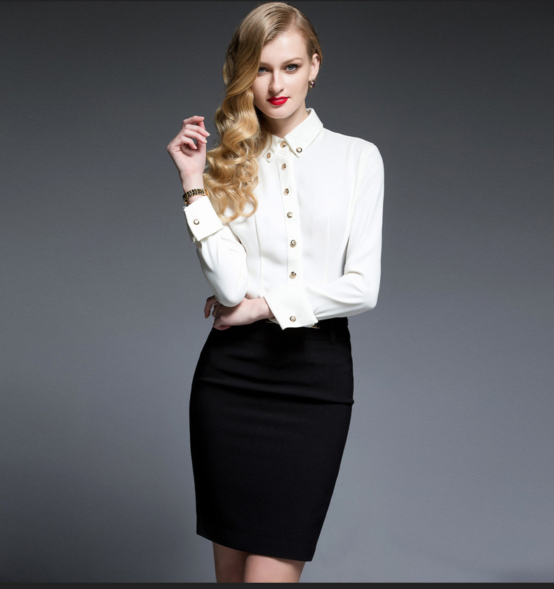 d8a78a93d Source Womens Work Clothes Shirts with Skirt Office Wear Design ...